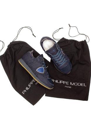 Оригінальні снікери philippe model tropez denim sneakers premiata golden goose