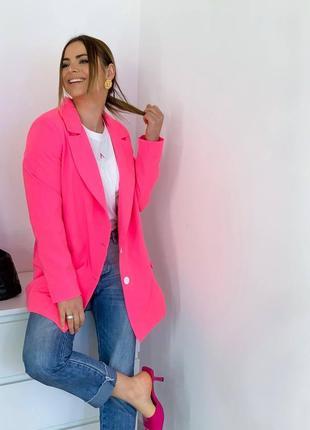 Удлиненный пиджак  оверсайз бойфренд женский
