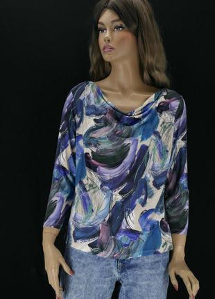 Красивая вискозная блузка artigiano. размер uk14.