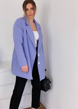 Пиджак оверсайз удлиненный бойфренд женский