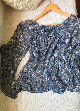 Блуза с принтом турецкий огурец рубашка с принтом пейсли asos