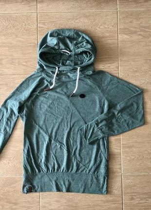 Кофта легкая худи  футболка с длинным рукавом и капюшоном лонгслив naketano