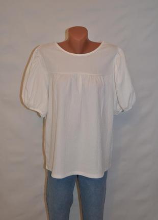 """Блуза с объемными рукавами из фактурной ткани """"f&f"""""""