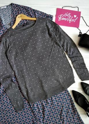 Серый свитер mango в крапинку