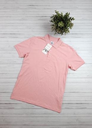 Поло мужское zara розовое