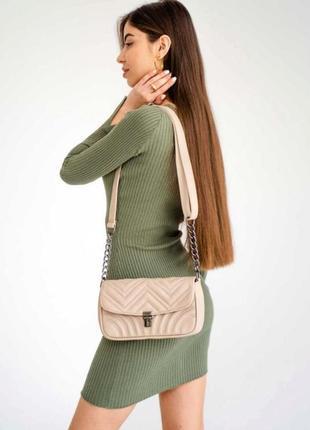 Компактная молодежная сумка на плечо aliri-645-09 бежевая