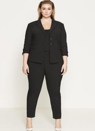 Классические чёрные брюки,штаны,капри,бриджи, большого размера,батал