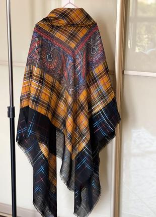 Шерстяная платок хустка yves saint laurent оригинал