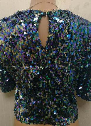 Очень красивая блуза в пайки с- м