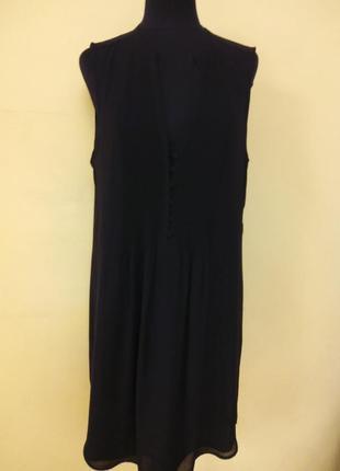 Черное легкое разноуровневое платье h&m раз.48-50
