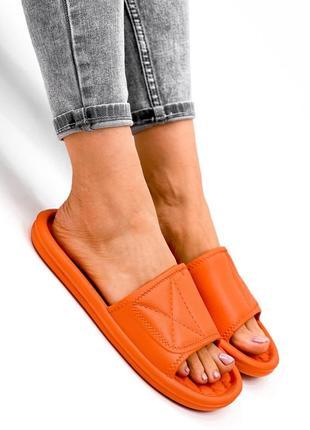 Шлепки женские eliss оранжевые резина