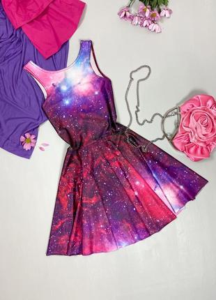 Платье - сарафан в принт космос