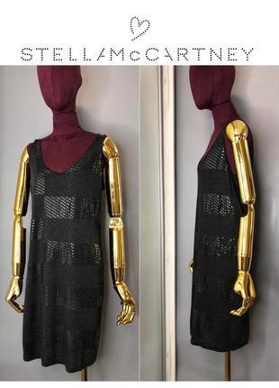 Stella mccartney платье-майка туника серая четная блёстки короткое платье allsaints owens lang rundholz