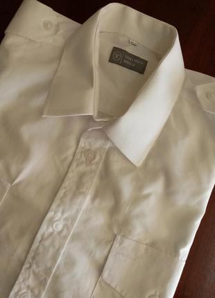 Мужская белая рубашка с коротким рукавом чоловіча біла сорочка на короткому рукаві