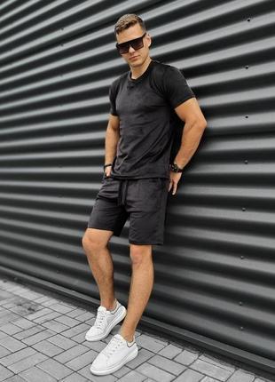 Шорты футболка велюр мужской