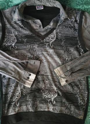 Кофта рубашка обманка, размер с/м