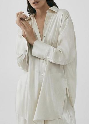 Рубашка блуза оригинал massimo dutti лимитированая