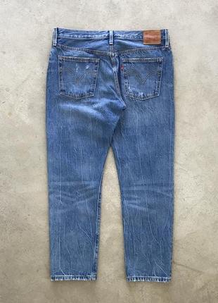 Рваные джинсы levis 501 ct distressed denim2 фото