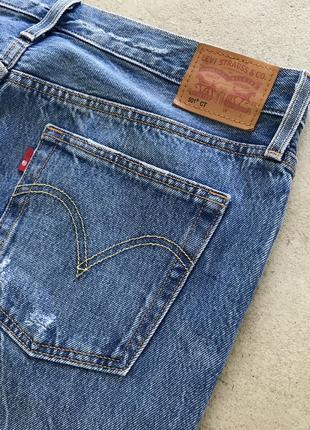 Рваные джинсы levis 501 ct distressed denim4 фото