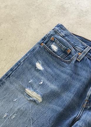 Рваные джинсы levis 501 ct distressed denim6 фото