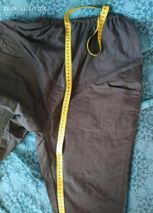 Штаны для беременных в идеальном состоянии,хаки,поб 53+.