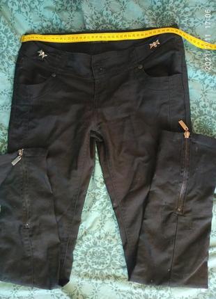 Брюки,джинсы со змейками, размер с