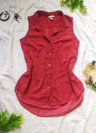 Малиновая блуза от h&m