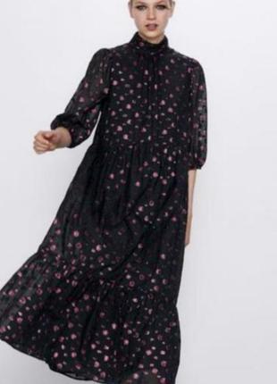 Платье макси от zara,