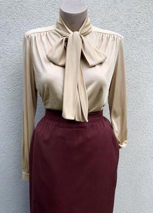 Винтаж,блуза с бантом по груди,pret-a-porter,werner graumann
