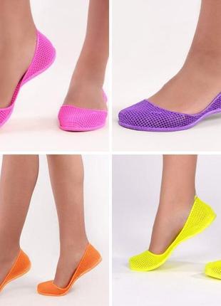 Женские силиконовые балетки, мыльницы коралки, in-ox купить 7 цветов10 фото