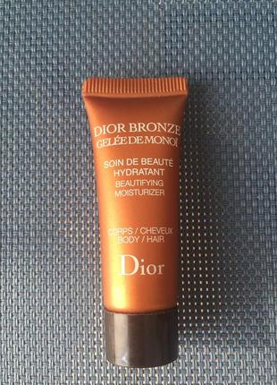 Гель для усиления загара увлажняющий dior bronze gelée de monoi soin de beauté hydratant  10мл