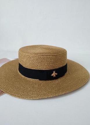 Женская соломенная шляпка в стиле gucci ⚠️ ⚠️ ⚠️ хит лета