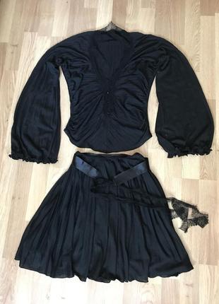 Нарядный вечерний комплект юбка блуза paola frani