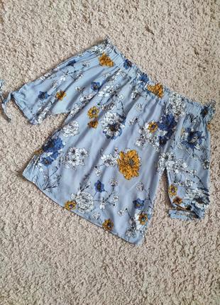 Вискоза! блуза со спущенными плечами