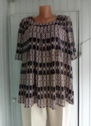 Красивая шифоновая блуза большого размера батал
