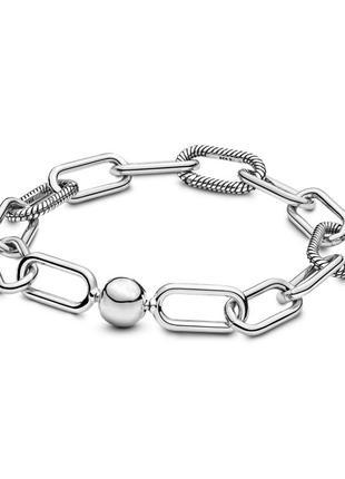 Женский браслет посеребренный 925