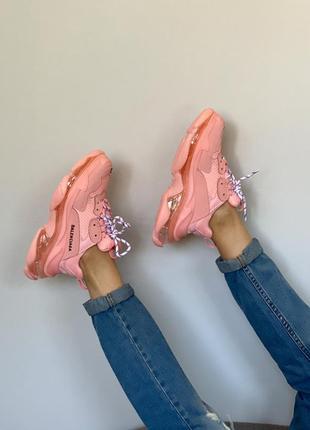 Кроссовки розовые тройная подошва очень удобные на каждый день