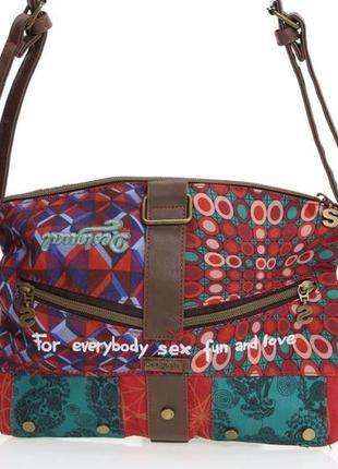 Шикарная сумка кроссбоди клатч от бренда desigual