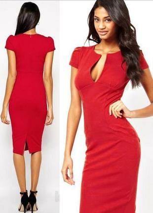 Стильное платье от asos платье футляр v-образный вырез в стиле евы лангория 36, 34, 6 xs 8 s