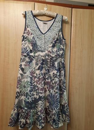 Шикарное натуральное платье 46 размер