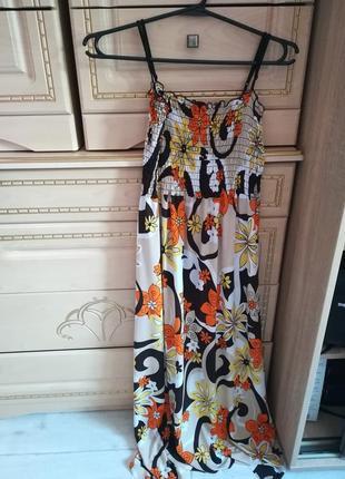 Лнтнее длинное платье 👗