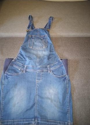 Комби юбка джинсовая.42р.