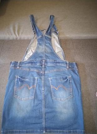 Комби юбка джинсовая.42р.2 фото