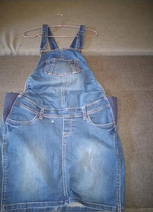Комби юбка джинсовая.42р.3 фото
