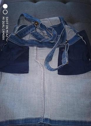 Комби юбка джинсовая.42р.7 фото