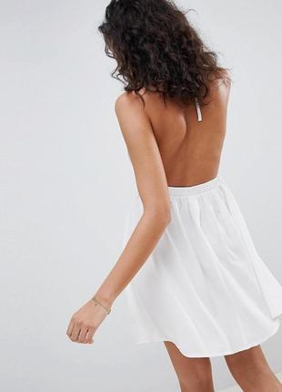 Новая короткая пляжная туника asos пляжное платье с открытой спиной xs s