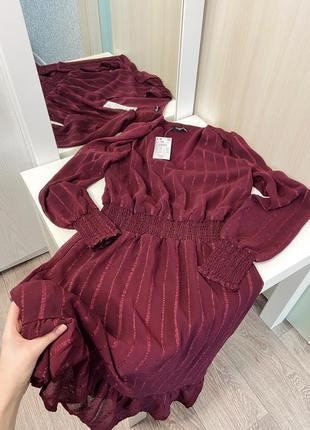Новое платье бордо