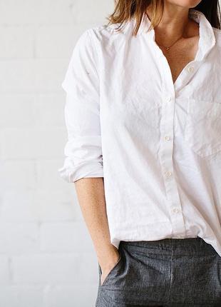 Фирменная итальянская белая рубашка оверсайз replay! размер xl