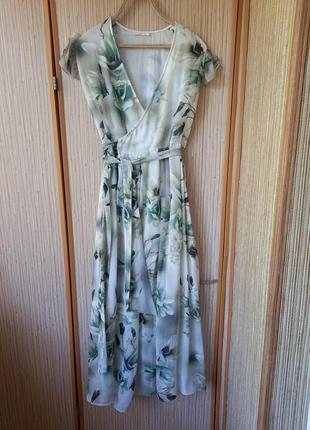 Платье на запах, платье, плаття, сарафан, вечернее платье