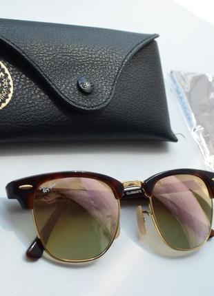 Солнцезащитные очки ray-ban 3016 clubmaster, оригинал.